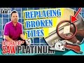DIY Home Repair Projects | Cracked or Broken Ceramic Tile Replacement Shower 🚿 Bathroom 🛁 & Floor