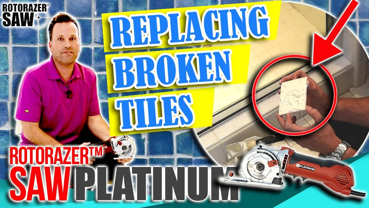 Diy home repair projects cracked or broken ceramic tile diy home repair projects cracked or broken ceramic tile replacement shower bathroom floor dailygadgetfo Image collections