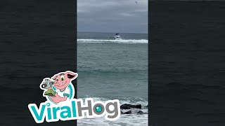 Man Falls off Boat during Crazy Weather || ViralHog