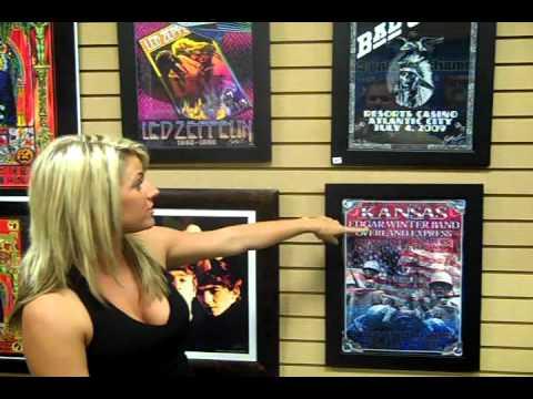 FM99 Rock Girl Lindsay at Rock Art Show