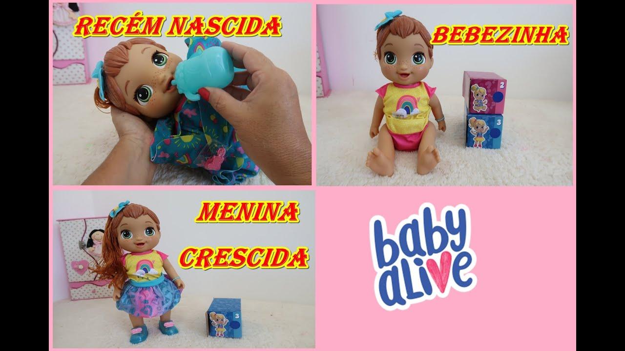MINHA BABY ALIVE CRESCEU DE VERDADE BABY ALIVE GROWS UP