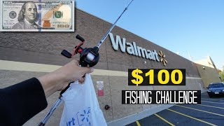 $100 Walmart Fishing Challenge!! (Surprising!)