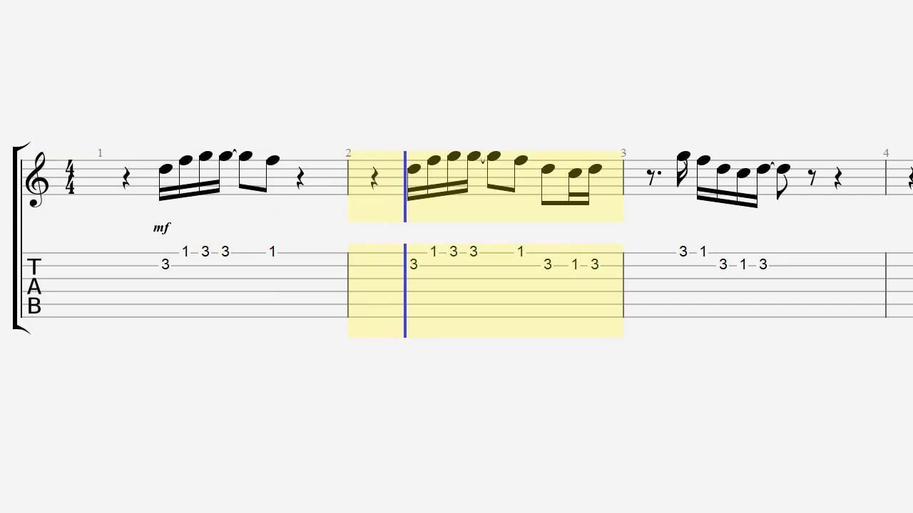 Guitar Tab Notes Default Dance Fortnite Quick Riff Youtube