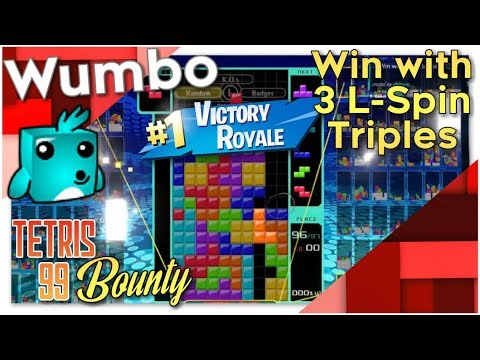 """Tetris 99 Bounty - """"Win with at least 3 L-Spin Triples"""""""