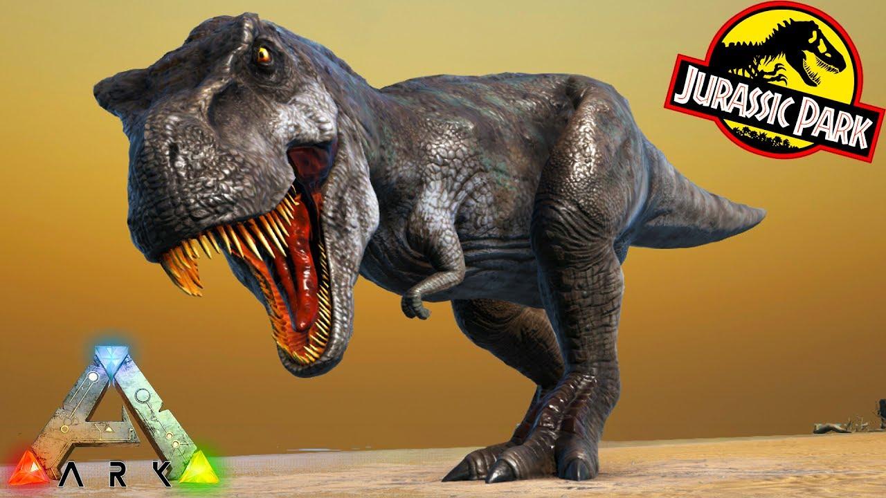 39aeba130c JURASSIC PARK DINOS IN ARK!!! T REX, SPINO, PARASAUR & MORE!! Ark Survival  Evolved Modded Gameplay