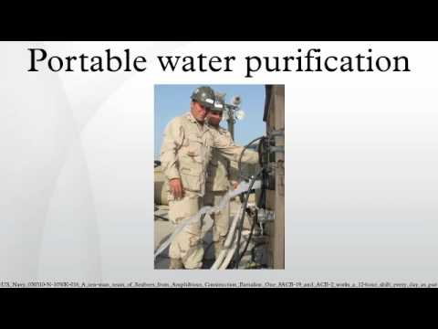 Portable water purification