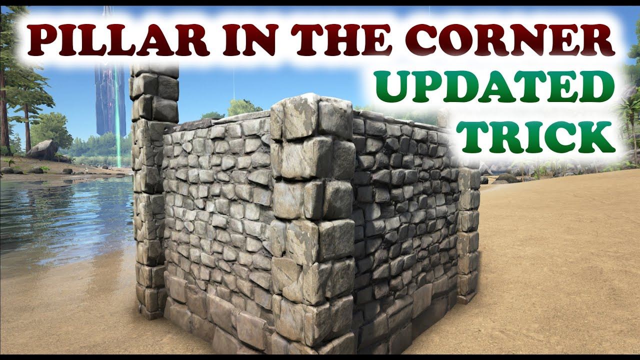 ARK | How To Place a Pillar in the Corner | Building Trick ...