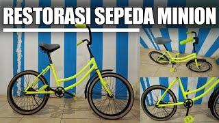 Restorasi Sepeda Minion Cet Warna Stabilo Samurai Paint Youtube