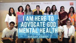Karisma Kapoor addresses students about Mental Health in Mumbai