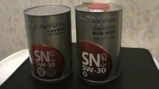 Toyota 5w 30 SN не подделка, но и не тойота.