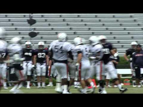 Auburn Football Scrimmage Video  Aug. 13, 2011