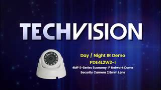 IR Demo - PDE4L2W2-I - 4MP E-Series Economy IP Network Dome Security Camera 2.8mm Lens