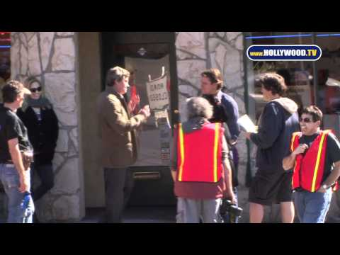 Matt Damon Films a Scene for We Bought a Zoo