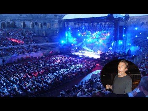 Concert de Florent PAGNY,  juillet 2015, ARENES DE NIMES.