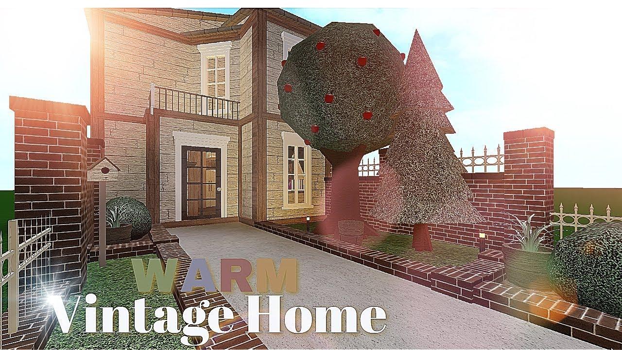 Bloxburg Warm Vintage Home House Build Youtube Roblox games escape high school. bloxburg warm vintage home house build