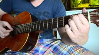 Three Little Birds (Bob Marley) fingerstyle guitar FREE TAB