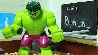 Lego Hulk School Superhero Animation
