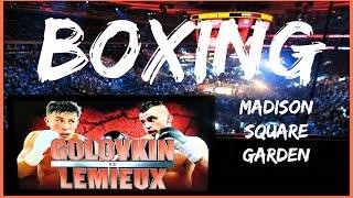 Boxing at Madison Square Garden - Golovkin vs Lemieux (The NYC Couple)
