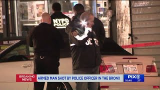 Armed man shot by cop in the Bronx