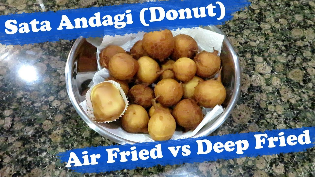 Air Fried and Deep Fried Sata Andagi (Okinawan Donut)