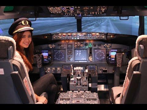 نظرة من داخل الطائرة كيف يتم الإقلاع والهبوط boeing 767-300