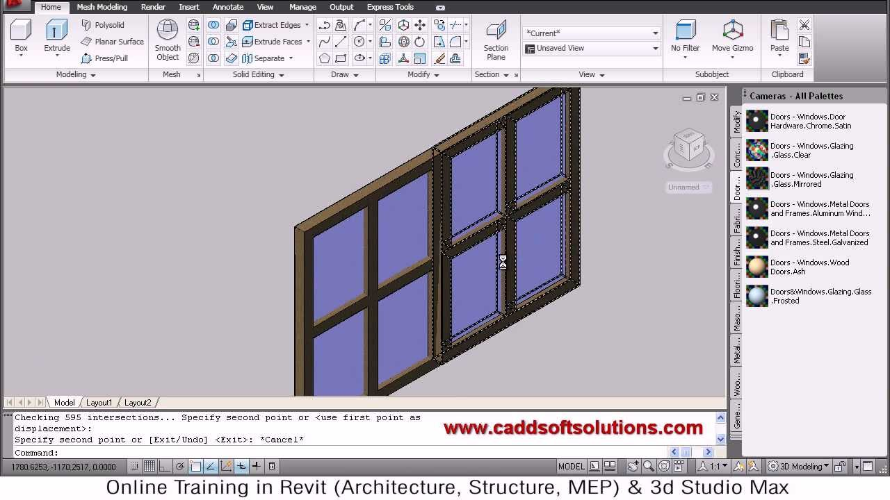 Autocad 3d Window Tutorial Autocad 2010 Youtube