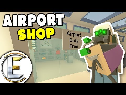 Airport Shop Duty Free - Unturned Shop Roleplay (Taken To Jail For No Papers Or Permits, Bad Life)