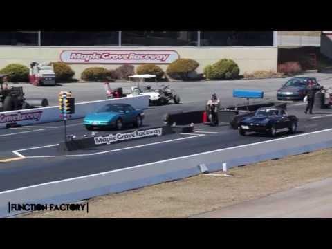 Old School Corvette Drag Race - C4 Vs Modified C2