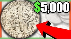 5 RARE DIMES WORTH MONEY - ROOSEVELT DIME COINS TO LOOK FOR