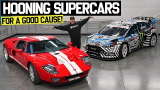 Ken Block Hoons a Ford GT!! AND Auctions Off His Gymkhana Car