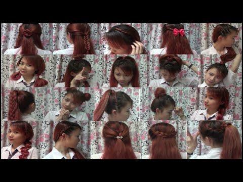 Hairstyles - 20 Kiểu Tóc Siêu Dễ Để Đi Học và Đi Chơi