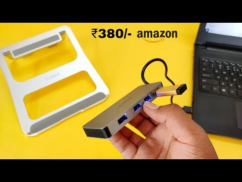 Zivonics Usb Type A Hub & Laptop Stand | Unboxing & Review | Hindi
