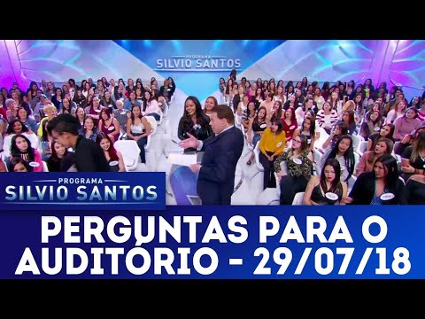 Perguntas para o auditório | Programa Silvio Santos (29/07/18)