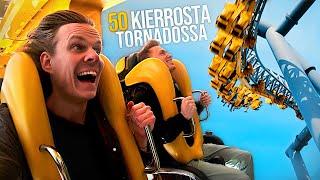 Ajetaan 50 kierrosta Tornado-laitteessa!