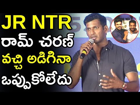 Jr Ntr And Ram Charan Came To Ask Me But I Rejected It || Vishal || Pandem Kodi 2 Trailer || TWB