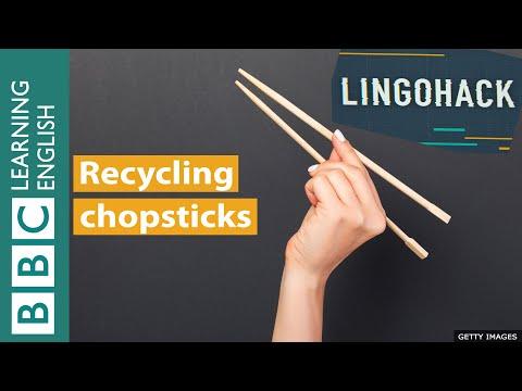Recycling chopsticks - Lingohack