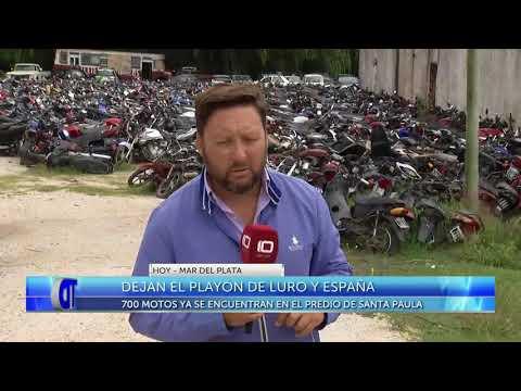 Dejan el playón de Luro y España: 700 motos ya están en el predio de Santa Paula