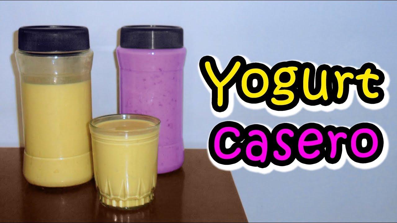 Cómo Hacer Yogurt Casero Con Fruta Youtube