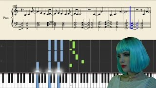 Halsey - Ghost - Piano Tutorial + Sheets
