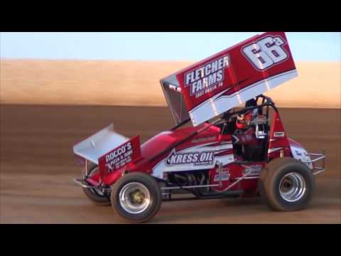 Trail-Way Speedway 358 Sprint Car Hightlights 09-02-16