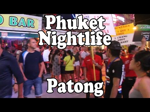 Phuket Nightlife Patong: Bars, Restaurants, Shopping, Thai Street Food & Bangla Road Vlog