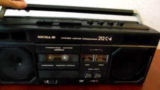 ВЕСНА 212С-4 обзор работы магнитофона