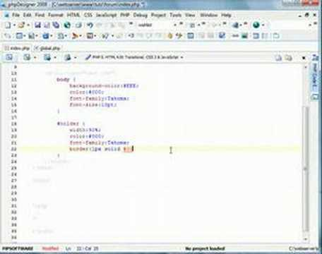 PHP Forum // Basic Layout
