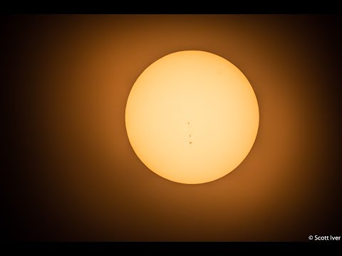 Live Solar Eclipse Telescope view - St. Charles MO