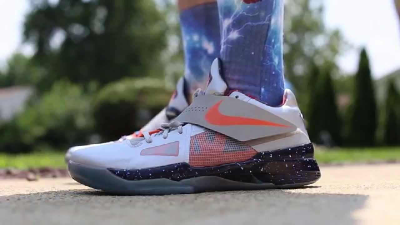 "Nike Zoom KD IV 4 ""Galaxy"" On Feet (eXimus Beat) - YouTubeKd 4 On Feet"