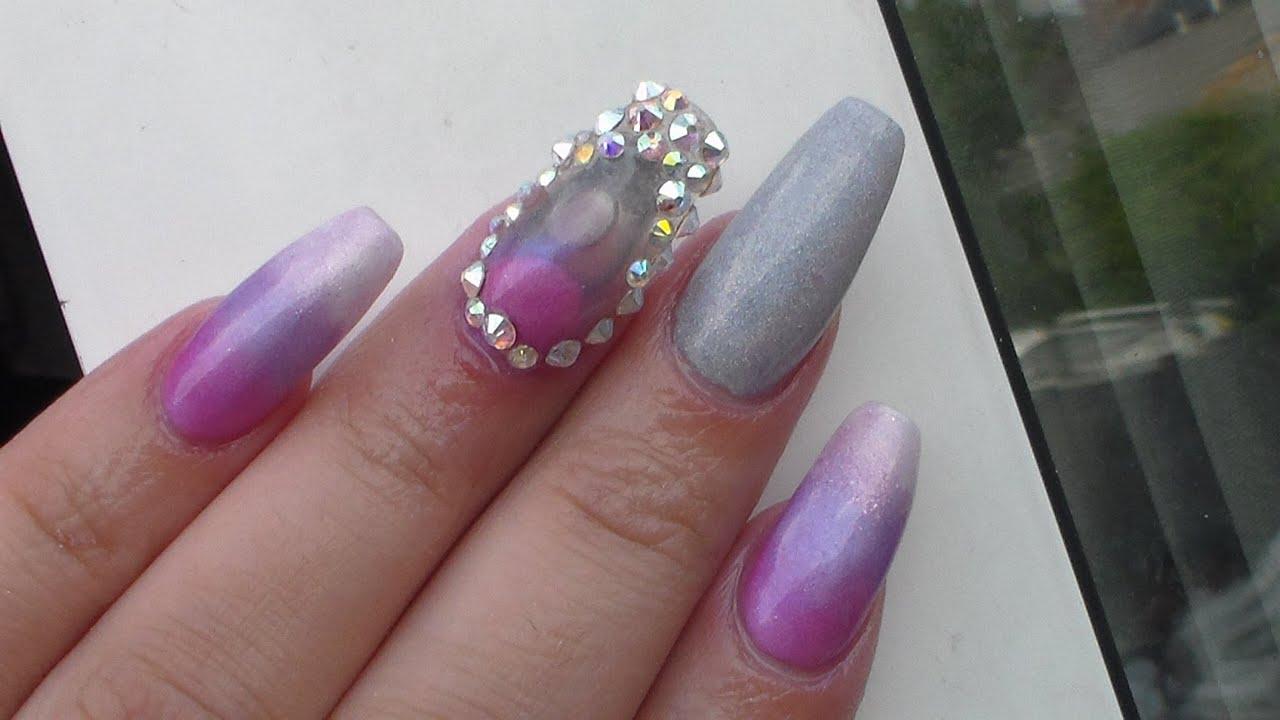 Acrylic Nails | Aquarium Nail | Infill And New Design - YouTube