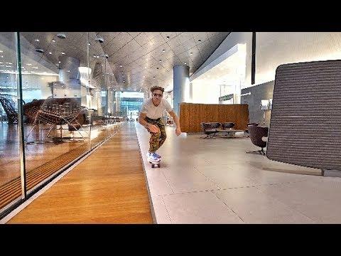 Download Youtube: SKATEBOARDING IN A FIRSTCLASS LOUNGE