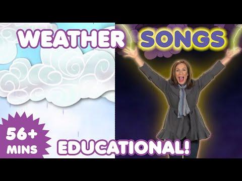 Weather Songs | Nursery Rhymes | Kids Songs | Cloud Song | Thunder Song