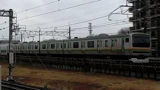 東北本線E231系5+10両回送栗橋駅通過 thumbnail