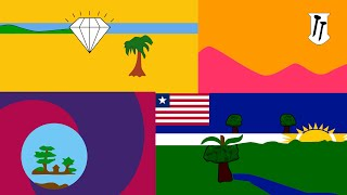 The Liberian County Flags Animated